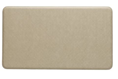 Imprint Cumulus9 Kitchen Mat Nantucket Series 20 in. x 36 in. x 5/8 in. Creme (Imprint Comfort Mat Cumulus9)