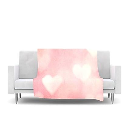 80 by 60 Kess InHouse Anneline Sophia Leafy Butterflies Pink Teal Butterfly Fleece Throw Blanket