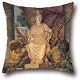 Oil Painting San Michele Manufacture - Tapestry With The Goddess Roma Pillow Cases 18 X 18 Inches / 45 By 45 Cm For Couples,teens Boys,home Office,couples,kitchen With Twin Sides ()
