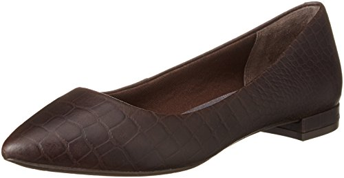 Rockport Women's Adelyn Ballet Flats Brown - Braun (Ebano Croco) FZwbC