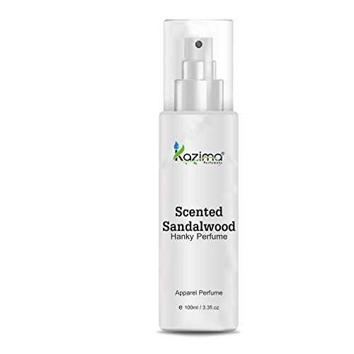 KAZIMA Scented Sandalwood Hanky Spray Perfume For Men, Women 100ML – (Free From Gas)
