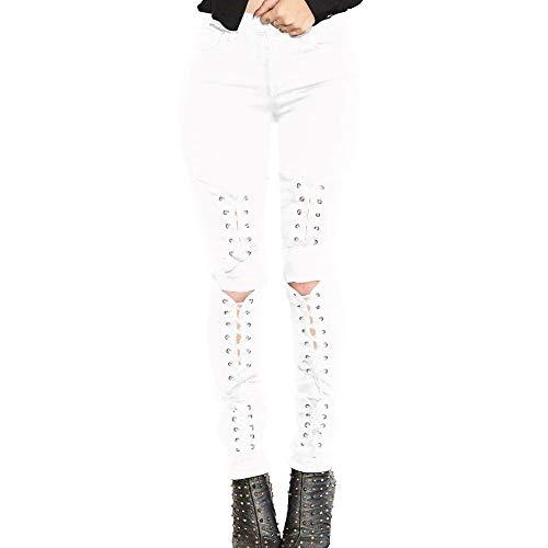 Serrs des La Liens Les White Culture DAMENGXIANG des Dames Modes des Jeans L'lasticit Nouvelles Et leve wxEY4qg41