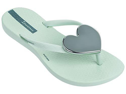 Ipanema Wave Heart Kids' Flip Flops, Green/Green (11/12 ()