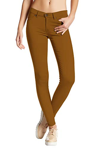 Womens Super Stretch Comfy Skinny Pants P44876SKX Tobacco 1X