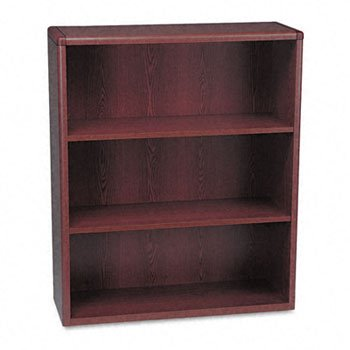 Hon 10700 Waterfall Edge - HON® 10700 Waterfall Edge Series Wood Bookcases BOOKCASE,3 SHELF,MY (Pack of2)