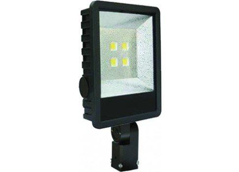 Metal Halide Pulse Floodlight Start (160 Watt LED Equivalent to 400 Watt Pulse Start Metal Halide Floodlight With Adjustable Slip Fitter Bracket)