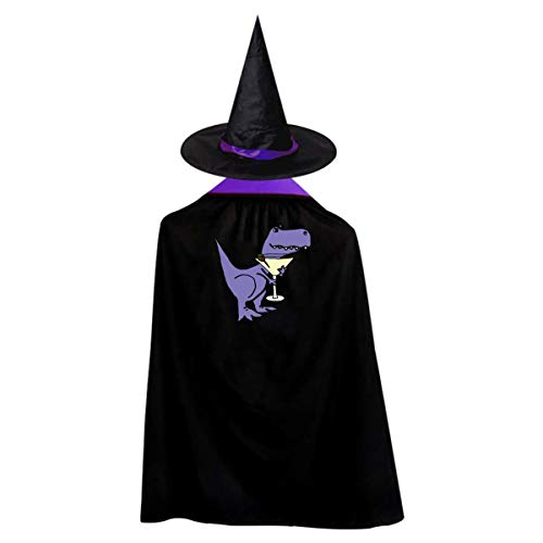 Dinosaur Kids' Witch Cape With Hat Simple Vampire Cloak For Halloween Cosplay -