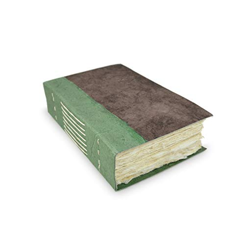 Nepali Wayfinder Journal with Extra-Thick Handmade Lokta Paper, 5x8 inch Writing Journal. Made in Nepal.