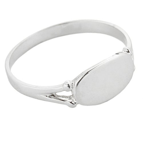 925 Sterling Silver Signet Ring for Women (Size 6) - Ladies Personalized Signet Ring