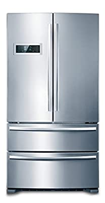 """36"""" THOR KITCHEN Cabinet Depth Stainless French Door Refrigerator, Ice Maker"""