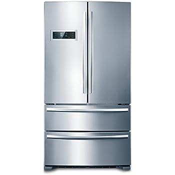 kitchen cabinet depth. 36  THOR KITCHEN Cabinet Depth Stainless French Door Refrigerator Ice Maker Amazon com