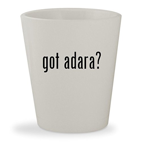 got adara? - White Ceramic 1.5oz Shot - Tote Medium Adara