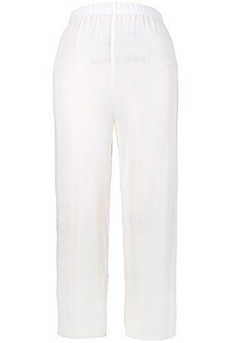 Jostar Women's Acetate Ankle Length Pants Medium White