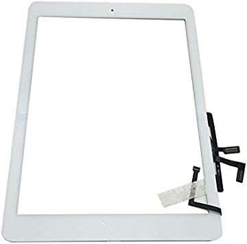 Digitizer with Home Button for Apple iPad Air White Touch Screen Panel Replace