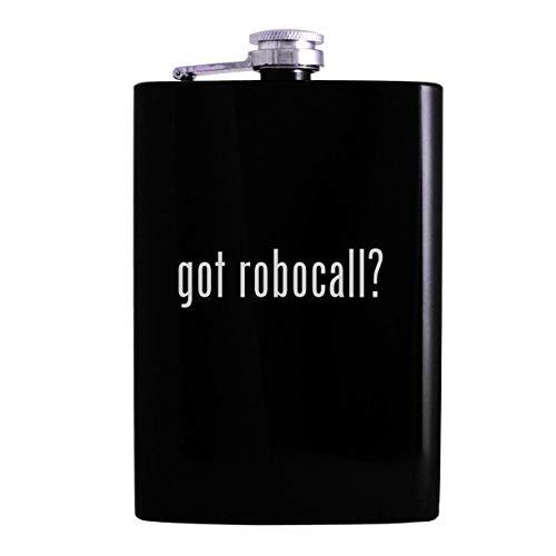 got robocall? - 8oz Hip Alcohol Drinking Flask, Black (Best Robocall Blocker App)