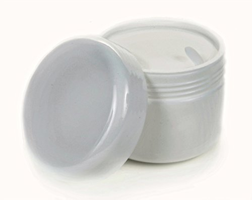 Vivaplex, 12, White, 4 oz Cosmetic Jars, with Inner Liners and Dome Lids