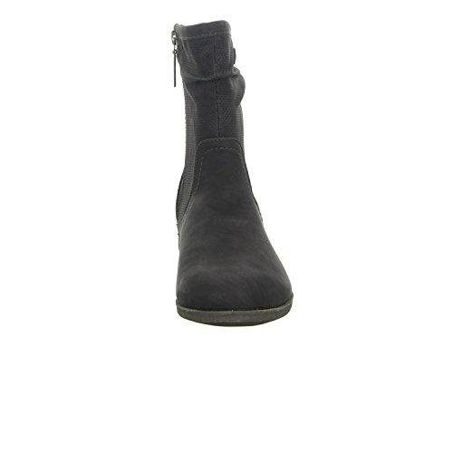 S, Oliver 5 -  5 - 25309-24/002 para mujer Eclosión/cremallera botines de frío forro de suelo de estilo deportivo negro - negro