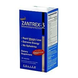 ONLY 1 IN PACK Zantrex-3 Rapid Weight Loss & Energy, 60 Capsules by Zantrex Black