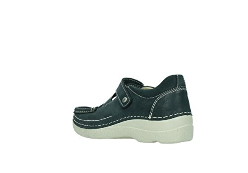 Wolky Comfort Mary Jane Seamy Cross 30070 In Pelle Nera