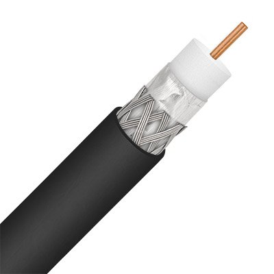 Coax Cable Single Conductor - Perfect Vision ULPVRG6BLK Single RG-6 Coax Cable - 1000 ft (Reel in a Box)