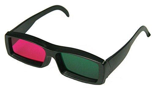 Green and Magenta Anaglyph 3D Glasses for Movies and Games