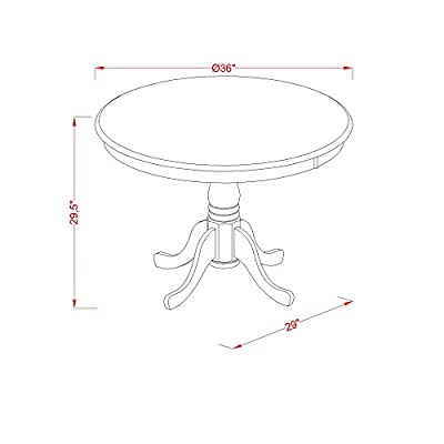 East West Furniture Round Table