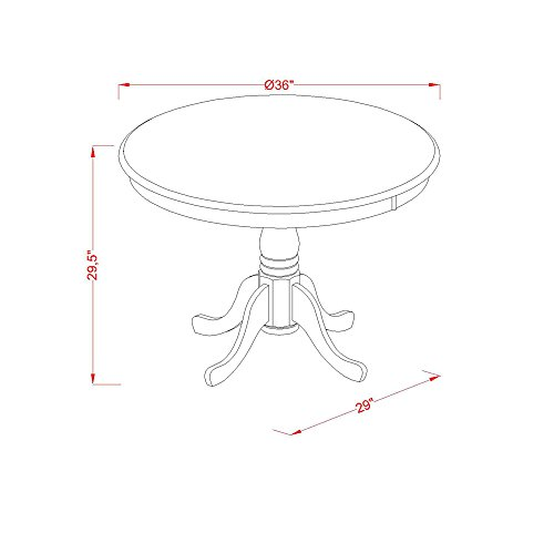 ANTI5-BLK-W Dining set – 5 Pcs with 4 Wood Chairs