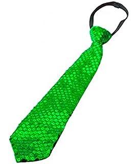 Corbata Satén con lentejuelas lisa, 5 cm, para disfraz o Show de ...