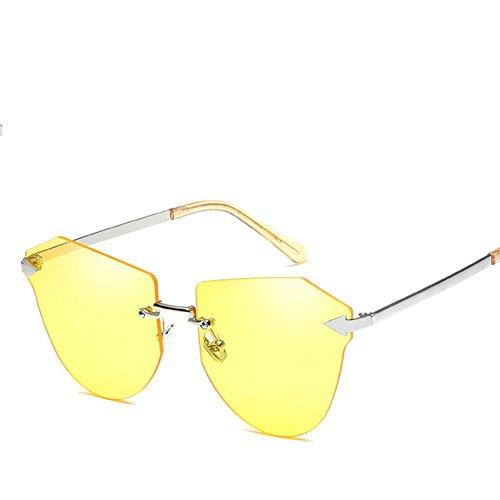 De Marco Sin 5 HAIHAI Gafas De Nueva Moda Gafas Femenino Gafas 1 De De De Color Tendencia Sol Metal Película De Sol Sol ww6IXq