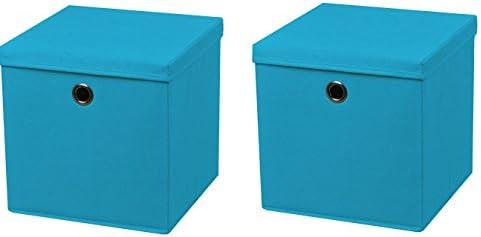 2 cajas turquesa – Caja plegable (28 x 28 x 28 cm caja plegable ...