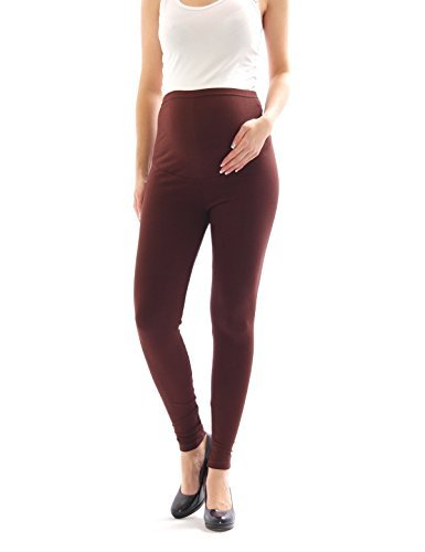 YESET Maternity Leggings Thermo Fleece Interior Long Trousers Pants Cotton Maternity Leggings