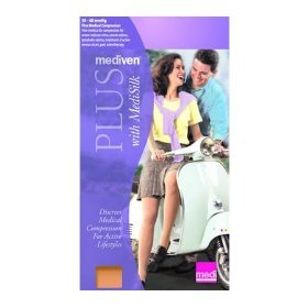 Mediven Plus - Extra Wide Calf Open Toe Unisex Knee High Stockings with Silic...