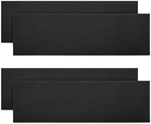 kwmobile Mousse Protection Garage - 4X Plaque Pare-Choc Portière Voiture - Bande Autocollante pour Mur - 40 x 12 x 1,5 cm - Noir