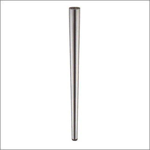 e-kanamono テーブル脚 DSP-5 テーパーポール 60mm径 x 高さ600mm クロームメッキ 4本セット 角座(100mmx100mm) B012CC4JSM