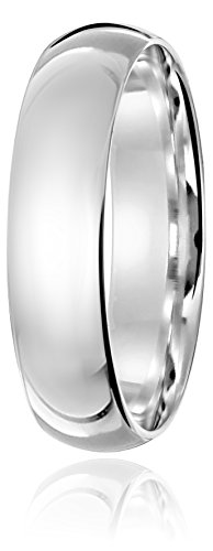 Light Comfort Fit 14K White Gold Band, 5mm, Size 10.5 by Amazon Collection (Image #2)