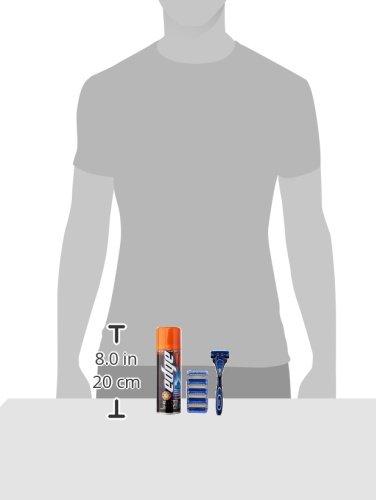 Schick Hydro 5 Shaving Starter Gift Set for Men with 1 - Hydro 5 Razor for Men, 5 - Hydro 5 Razor Blade Refills for Men and 1 - Edge Sensitive Skin Shave Gel for Men