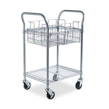 Wire Mail Cart, 600-lb Cap, 18-3/4w x 26-3/4d x 38-1/2h, Metallic Gray