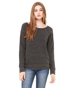 Bella womens Sponge Fleece Wide Neck Sweatshirt(7501)-CHAR-BLACK TRIB-XL