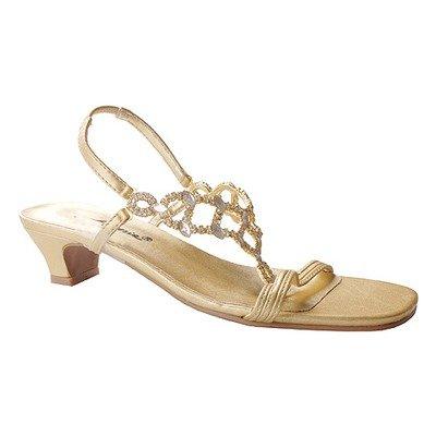 Annie Women's Allison T-straps,Gold,6.5 W