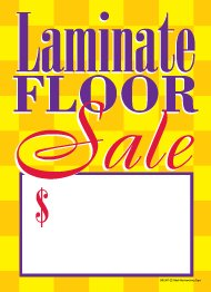 G60LMT Laminate Floor Sale - Grommet Reinforced (Brass Ring) Sale Tags - 5'' x 7'' (100 Pack) Carpet and Flooring Store Price Cards 10pt Card Stock for Easy Writing by Retail Merchandising Signs LLC