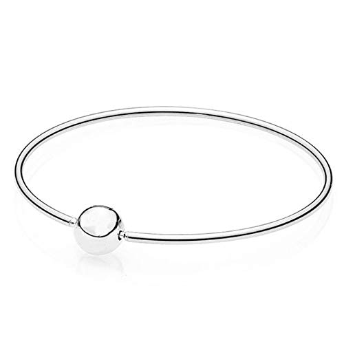 New Ball Clasp | Essence Collection Bracelets & Bangles | Fit Women | DIY European Bead Charm Jewelry | 925 Sterling Silver Bangles