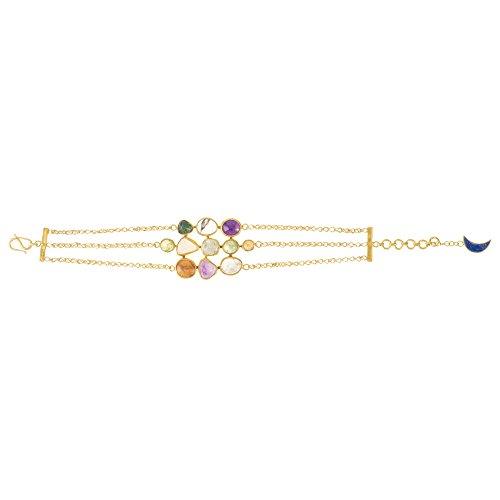 Pippa Small Bracelet Plaqué Or Ronde Grenat Multicolore Femme