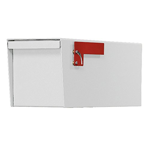 Jayco LLDBLRURAL Residential Non-Locking Front and Rear Access Letter Locker Mailbox White