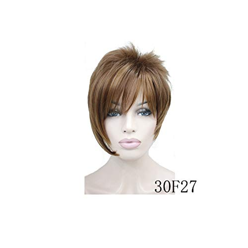 - Feing Women's Wigs Asymmetric Inclined Bangs Short Straight Bob Natural Synthetic Full Wig 4 Color-in Synthetic None,Auburn,6inches