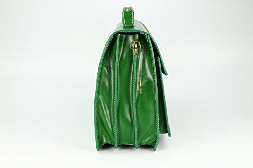 14 x h x attaché au sac cm l cuir 30 «b» p case main étui design couleur choix Vert en x à Vert x Belli ® 40 unisexe OSg0OB