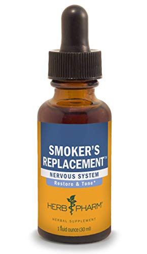 Herb Pharm Smoker's Replacement Liquid Herbal Formula for Nervous System Support - 1 Ounce - Nicotine Replacement