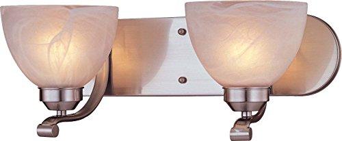Minka Lavery Wall Light Fixtures 5422-84-PL Paradox Reversible Glass Bath Vanity Lighting, 2 Light, 26 Watts Fluorescent, Nickel
