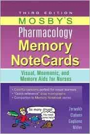 NOTECARDS MOSBY MEMORY PHARMACOLOGY