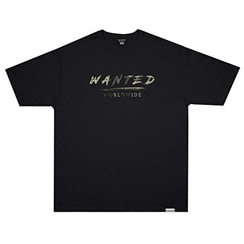 Camiseta Wanted - Signature Dollar preto Cor:Preto;Tamanho:M