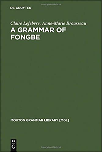 Get A Grammar Of Fongbe Pdf Openebooks Books